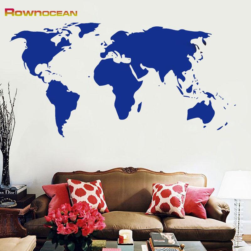 Cheap Sale World Map Wall Art Stickers Vinyl Decal Home