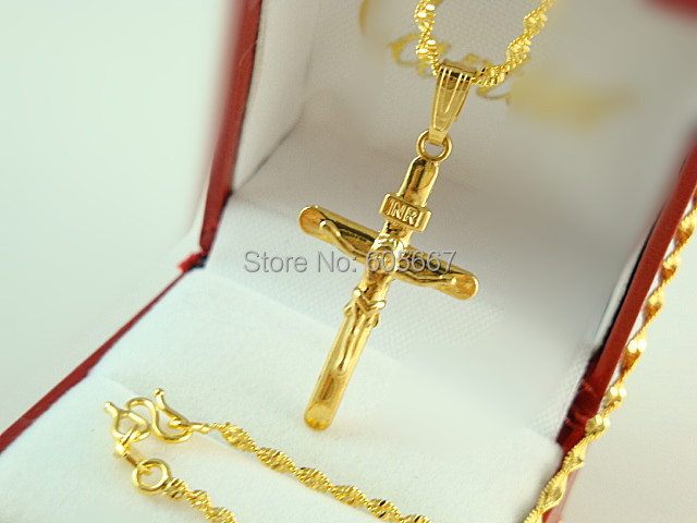 Africanblacks 24k yellow gold plated necklace luxury women man africanblacks 24k yellow gold plated necklace luxury women man cross pendant twisted rope chains necklaces aloadofball Gallery