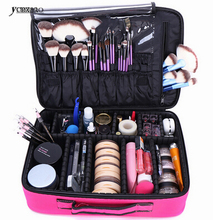 Makeup Bag Organizer Professional Makeup Box Artist Larger Bag nail pattern semi-permanent tool box cosmetic case bags