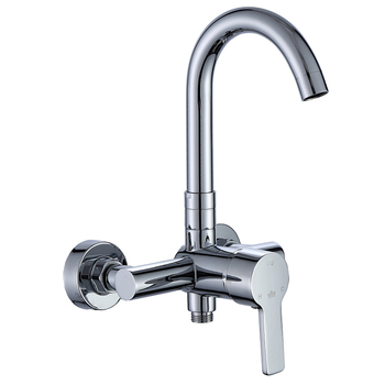 SHAI NEW  silver Outlet pipe Bath shower faucet set Brass body shower head bathroom tap chrome bathtub faucet