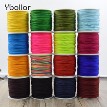 100 Meters/roll 0.8mm Nylon Cord Thread Chinese Knot Macrame Rattail Beading Braided Bracelet DIY String for Jewelry Making недорого