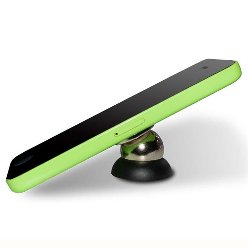 Magnetic Ball Mount Holder Car font b GPS b font mobile Phone Case Black