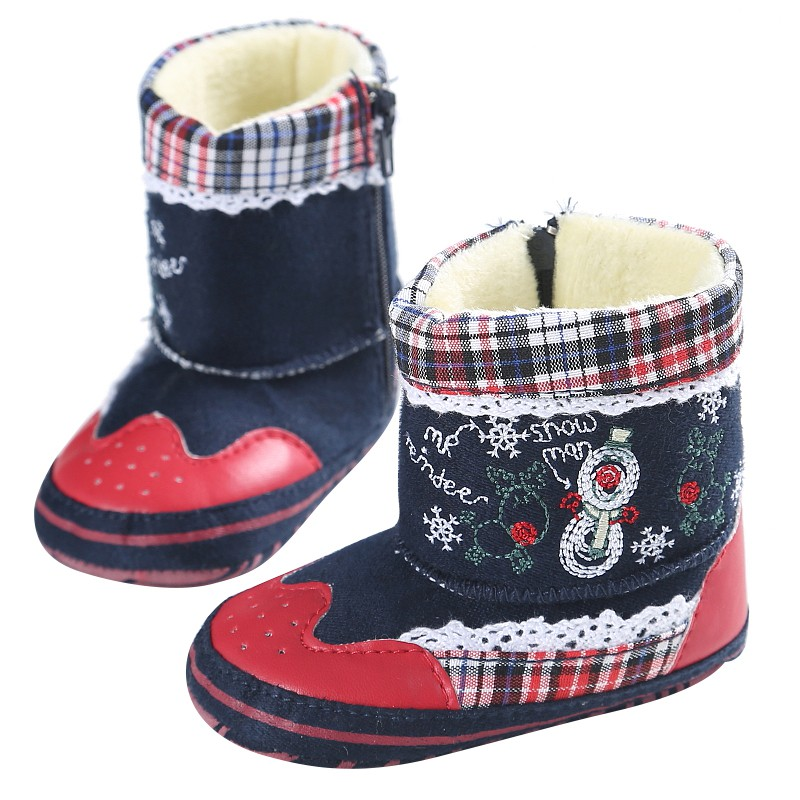 Super Warm Soft Bottom Baby Winter Shoes Newborn Unisex Girl Boys Non Slip Winter Boots Baby Snow Boot Christmas Gifts