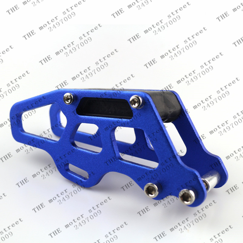 free shipping blue Chain Guide Guard Slider For Honda CR CRF 125 <font><b>250</b></font> 450R Off-Road Motocross Acces Motorcycle Chain Guide image