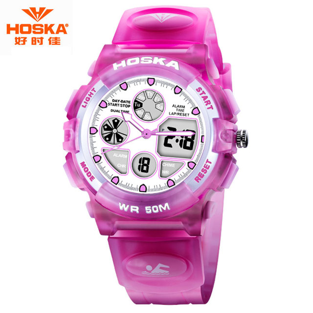 Watch Children Boy Famous Brand HOSKA Running Race Tool to Succeed Chronograph Stop Watch Scratch-resistant Digital-Watch HD003