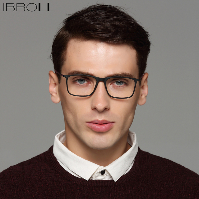 ac64a9fe86f6 ibboll Fashion Mens Optical Glasses Frames Classic Square Wrap Frame Luxury  Brand Men Clear Eyeglasses Frame