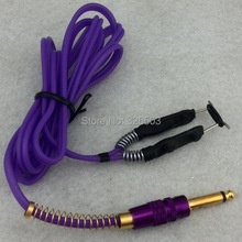 One Silicone Tattoo Power Clip Cord For Machine Gun Kit Set Supply – Purple TCC09-F