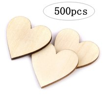 50pcs/lot Blank unfinished wooden heart crafts supplies laser cut rustic wood wedding rings ornaments 70mm 171129