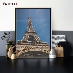 Image 4 - Moderne Stadt Paris Landschaft Drucke Poster Nordic Paris Zitate Leinwand Malerei Auf Die Wand Wohnzimmer Wohnkultur Kunst Bilder