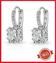 Argent Sterling 925 Perle Boucles d/'oreilles en eau douce perle /& zircon cubique Escalade Boucles d/'oreilles E42