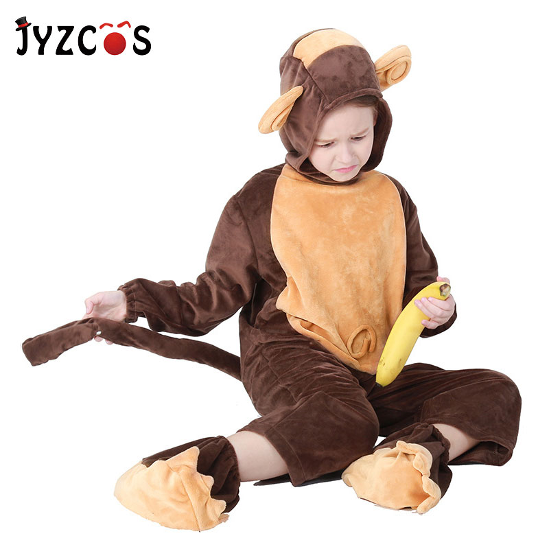 Amiable Jyzcos Kids Baby Monkey Cosplay Costume Halloween Purim Costumes Christmas Gifts For Girl Boy Bringing More Convenience To The People In Their Daily Life Girls Costumes Costumes & Accessories