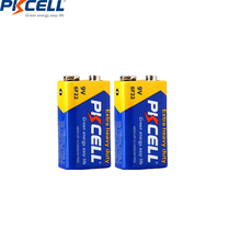 PKCELL 2PCS 9V Infrared thermometer battery 6lr61 PP3 6F22 6LR61 MN1604 batteries Super Heavy Duty carbon primary batteries cheap Zinc Carbon 240min 9v 6f22 9V battery 48 5*17 5mm carbon battery