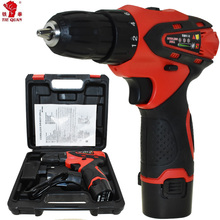 12v Electric Screwdriver Power Tools Cordless Drill Electric Drill Electric Mini Drill 2 Batteries Screwdriver Electric