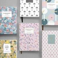 คลาสสิกF Lamingoและดอกไม้ธีมธรรมชาติปกไดอารี่โน๊ตบุ๊ค160แผ่นสาย/ธรรมดากระดาษหนังสือของขวัญSchoolวั...