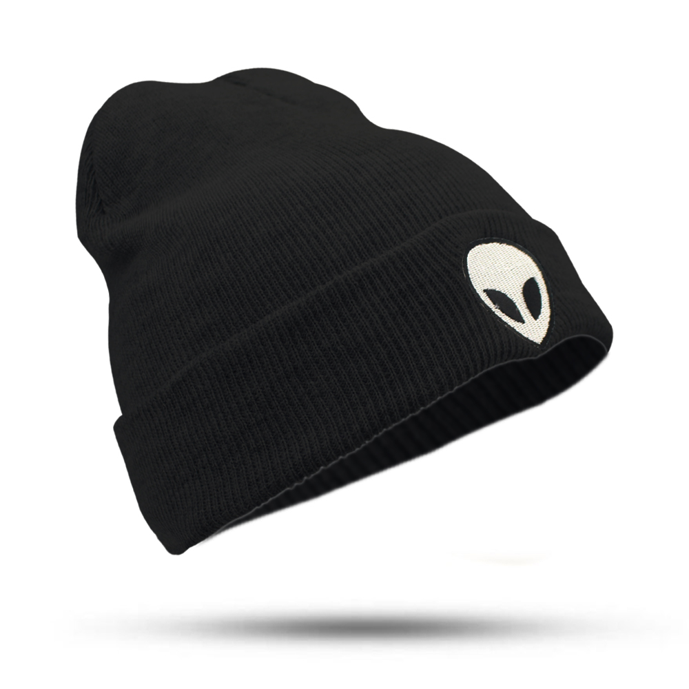 где купить 2017 New Aliens UFO Fans Winter Warm Knitted Beanies Outstar Saucer Space E.T Home Soft Knitted Hat For Adult women men Female по лучшей цене