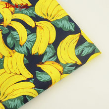 Booksew 100% Cotton Poplin Fabric Banana Pattern High-Density Cloth Fat Quarter Meter For Shirt Craft Dress Patchwork Clothing(China)