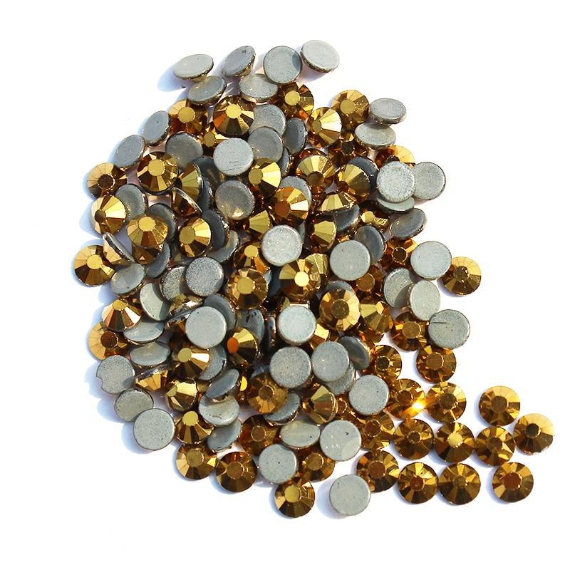 Strass DIY Giyim Aksesuarları üzərindəki SS30 Mine Gold Hotfix - İncəsənət, sənətkarlıq və tikiş - Fotoqrafiya 1