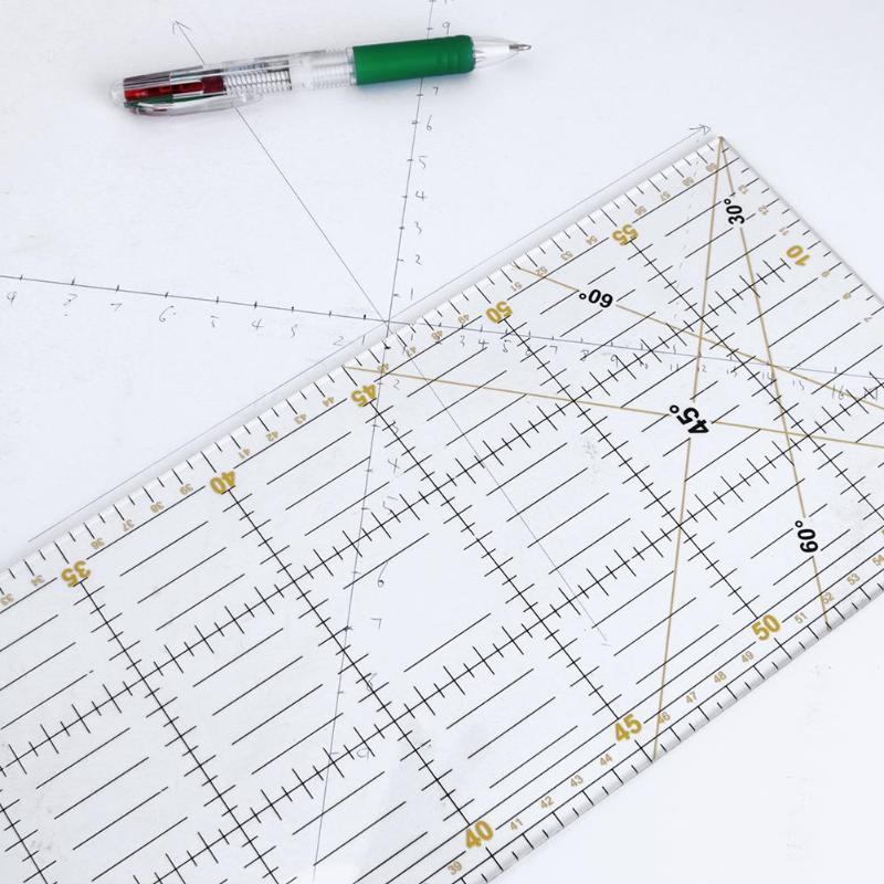 DIY Handmade Patchwork Pés Tailor Ferramentas Material Acrílico 60*15 centímetros Patchwork Quilting Governantes Escala Régua De Medição De Costura De Costura