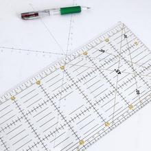 DIY Handmade Patchwork stopy krawieckie narzędzia do pikowania materiał akrylowy 60*15 cm Patchwork linijka miernicza szew szycie skala linijki tanie tanio ALLOYSEED ruler Z tworzywa sztucznego Prosta linijka 60*15 cm 23 62*5 91 patchwork ruler sewing ruler quilting ruler tailor ruler