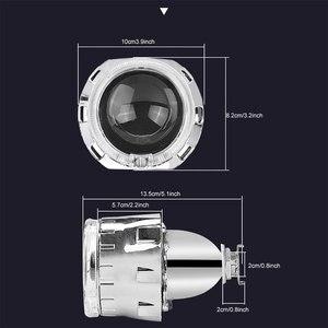 Image 5 - RACBOX Universale da 2.5 pollici Led di Angelo occhi Bi xeno Proiettore lenti di Guida Della Luce DRL H4 H7 Auto Retrofit Per Lo Styling uso H1 Lampada