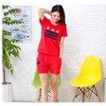 Verano Nueva Mujer Pantalones Cortos de manga corta de Algodón Pijamas Par De Trajes de Desgaste Casual En El Hogar MJSUQJ3467