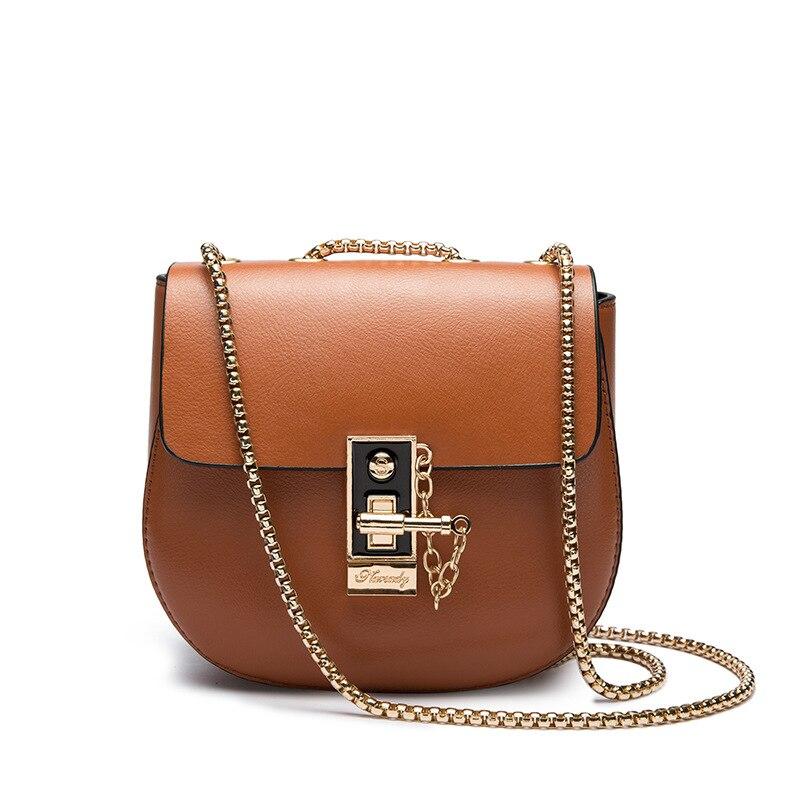 Для женщин маленькая сумочка из искусственной кожи бренд Дизайн Плечо Сумка Через Плечо Дамы Цепи сумки женские кошельки 2017, Новая мода сви…
