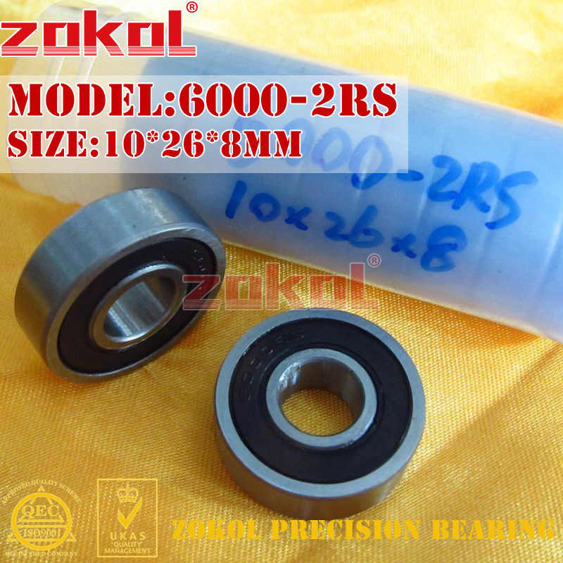 ZOKOL 6000 bearing 2RS Z3 V3 6000 ZZ Z1 S6000ZZ Deep Groove ball bearing 10*26*8mm