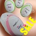 4 unids/lote Jumper Mini Portátil de Sonido Doppler Fetal Bebé Ángel Embarazada Del Golpe de Corazón Del Monitor Del Auricular Cable USD Rosa/Verde