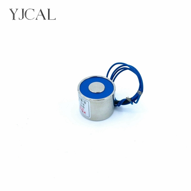 YJ-25/25 Holding Electric Sucker Electromagnet Magnet Dc 12V 24V Suction-cup Cylindrical Lifting 6KG Gallium Metal China