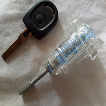Прозрачная версия замка левой двери автомобиля цилиндр для VW Passat B5 практичный цилиндр замка hu66 тренировочный цилиндр замка