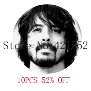 Foo fighters dave grohl Glass Photo Cabochon Necklace keyring bookmark cufflink earring