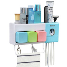 1 piece Toothbrush Sanitizer Automatic Toothpaste Dispenser Ultraviolet Infrared Family Suit Sterilizer Oral Hygiene