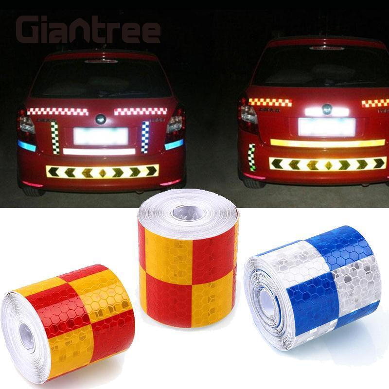 цена на Giantree Reflective Material Tape Stickers Motorcycle Bike Car Truck Vehicle Reflective Film Tape PVC Safety Decoration Sticker