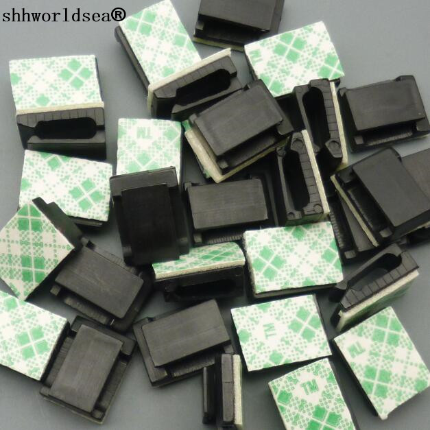 Shhworldsea 100 stücke 9*12mm Auto Schwarz Daten Draht Fixiert clips ...