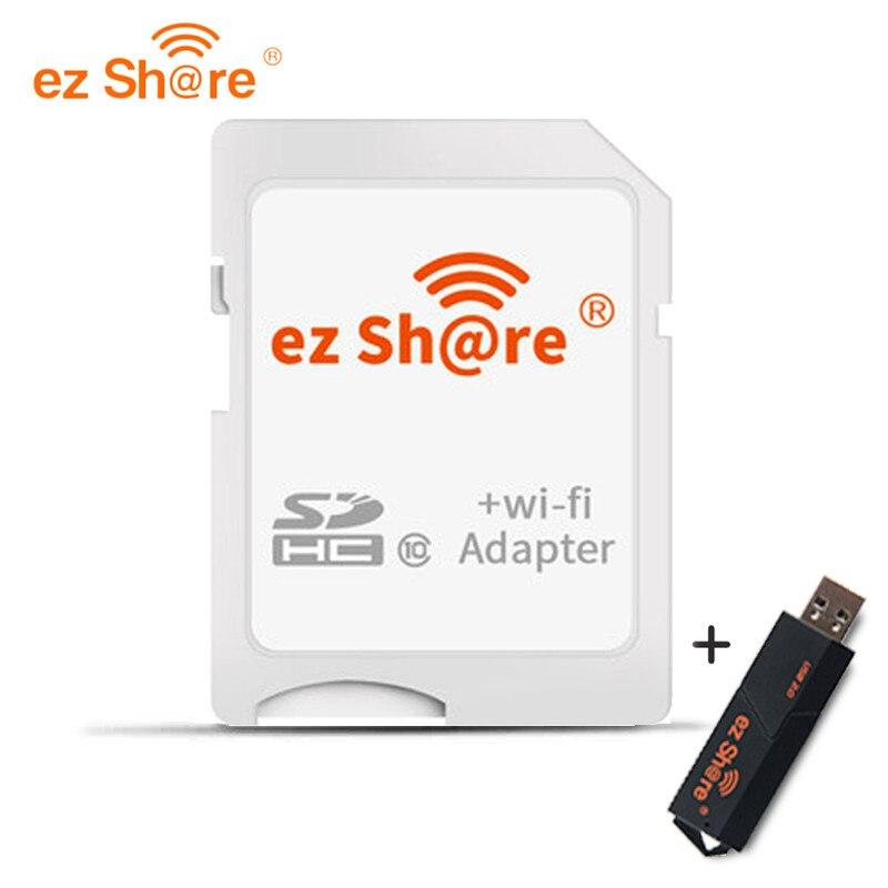 Ez Partager wifi adaptateur de carte Sd class10 sdhc Sans Fil pour Micro Sd Mémoire lecteur de cartes flash disponibles pour canon/nikon/sony DSLR