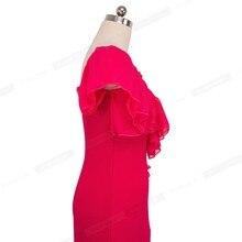 Strapless Pure Color Bandage Ruffle vestidos