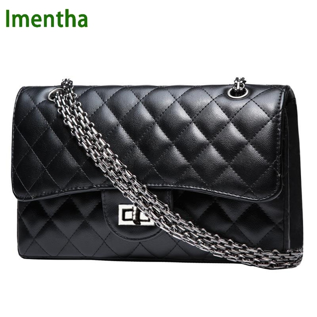 1b671e340fe 2016 ladies women crossbody shoulder bag retro plaid Quilted black PU leather  small women shoulder bag