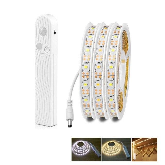 1M 2M 3M wodoodporny czujnik ruchu lampka nocna sypialnia czujnik bezprzewodowy światło szafkowe na biurko, z wejściem usb lampa stołowa podświetlenie tv Luminaria