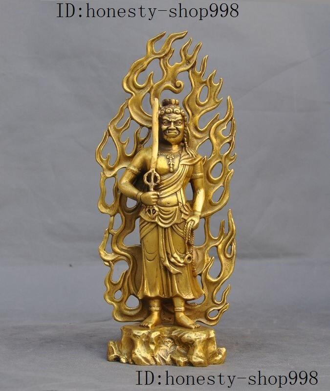 wedding decoration 11Tibetan buddhism Fane Pure Brass Fudo Myoo Acalanatha warrior Buddha Statue