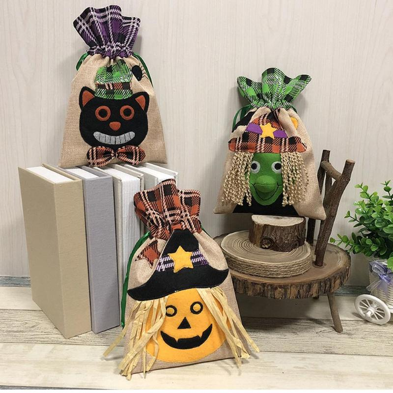 Halloween Gift Bags Candy Pouch Holders Bar Shopping Mall 3D Decorations Gift Boxes & Bags Festival Party Decoration