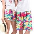 Men Women Lovers Various Beach Casual Pants Shorts Rope Tie Casual Pants