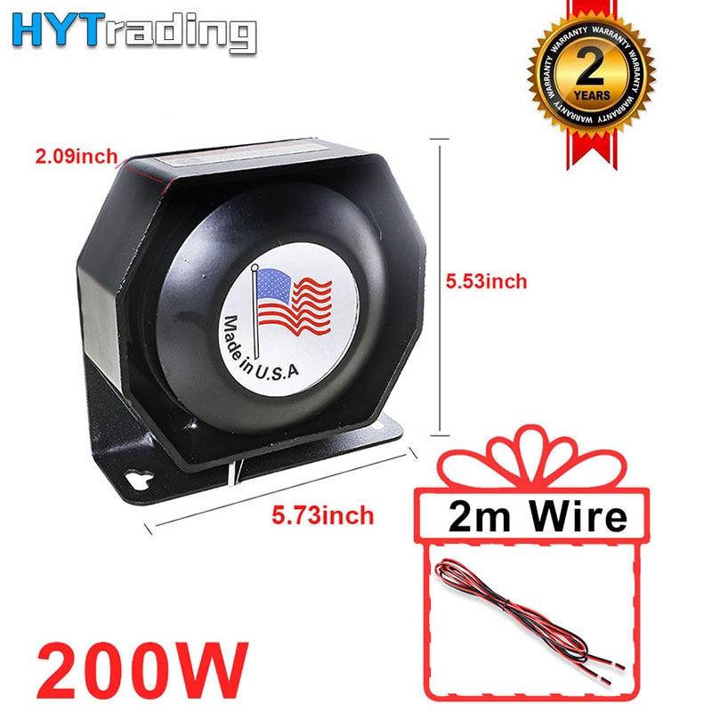 1pc 12V 200W PA Car Horns Black Metal Flat Speaker Ultra Slim Loudspeaker Megaphone Electronic Speaker