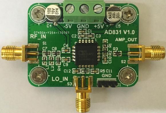 AD831 module, mixer module, 500M bandwidth, mixer on mixer, down mixer