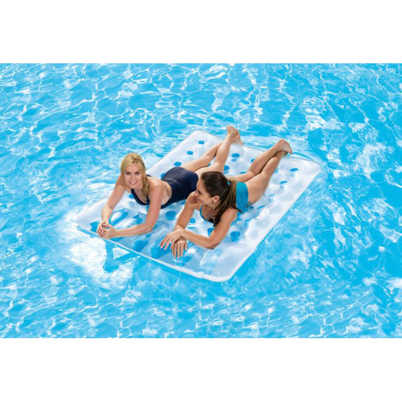 36 Hole Two Person Inflatable Floating Row Floating Bed Beach Mat With Pillow Bestway Matelas Gonflable Piscine Air Mattress In Air Mattresses From