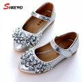 Astuto Marca Meninas Sapatos 2017 Primavera Strass Moda Festa Princesa Crianças Sapatos Crianças Sapatos Casuais 9073Z
