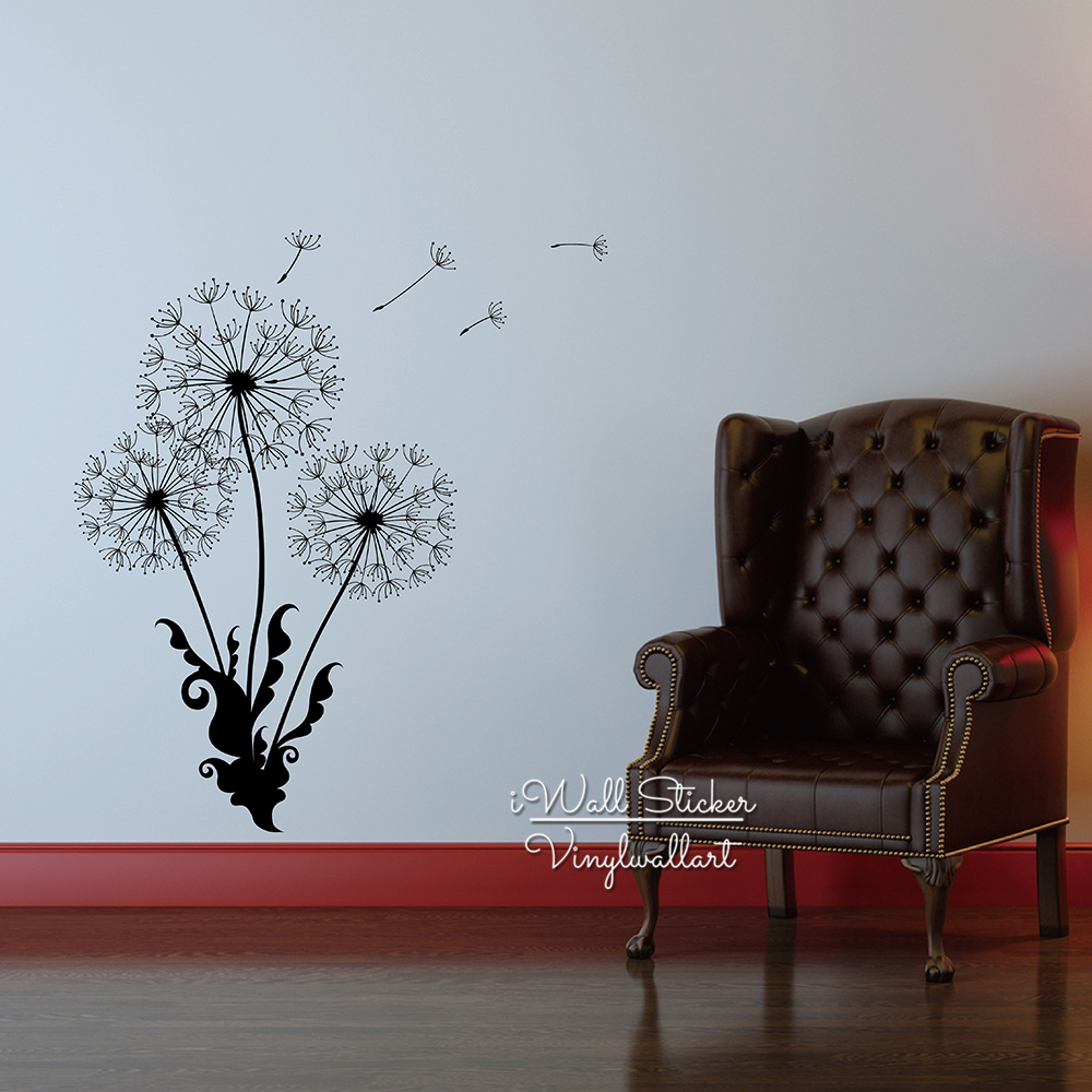 Aliexpress buy dandelion wall sticker dandelion flower wall aliexpress buy dandelion wall sticker dandelion flower wall decal diy dandelion sticker modern vinyl wall art cut vinyl flower wall decor f24 from amipublicfo Images