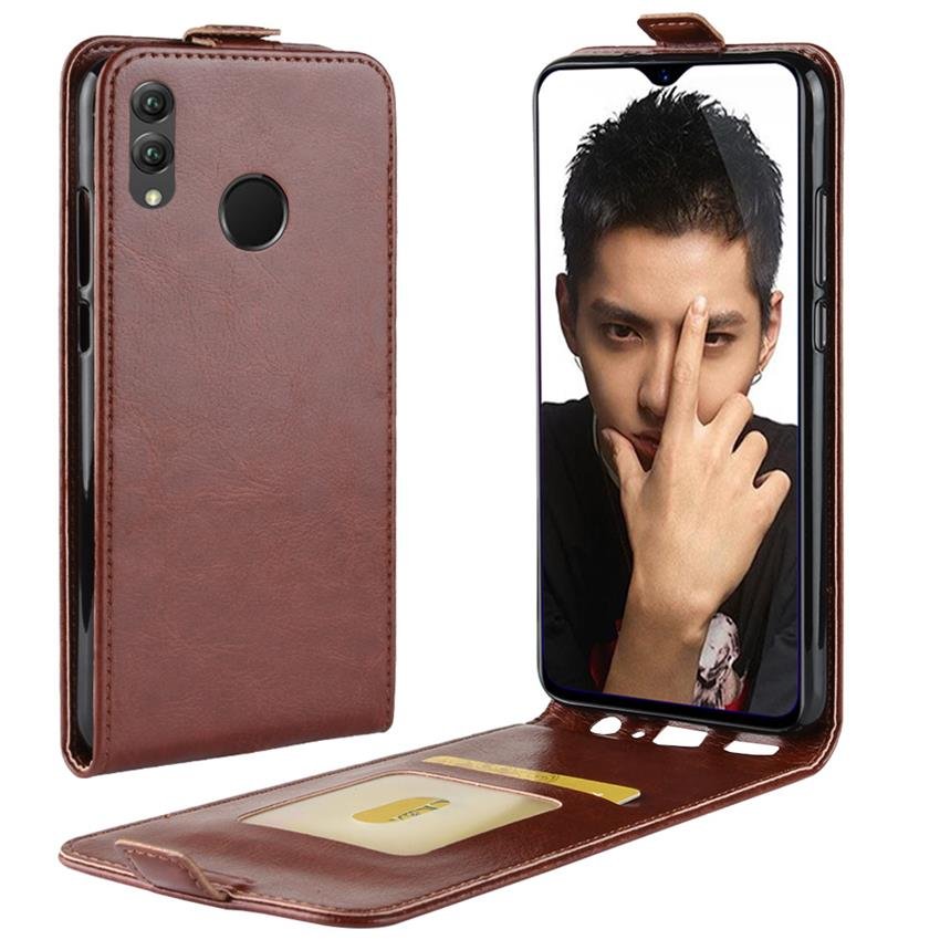 Honor 8A Fundas Huawei Honor 8C Case Flip PU Leather Case for Honor 8X Cover Wallet Case Screen Protector Tempered Glass film