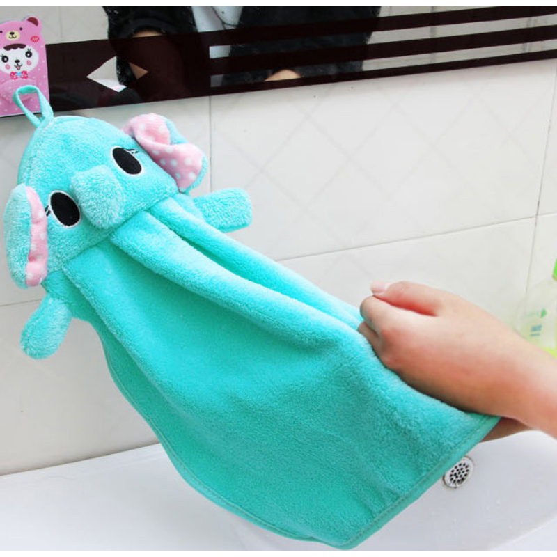 Aliexpress.com : Buy 1PC Cute Kitchen Rags Cartoon Animals Hand Towels  Super Soft Coral Fleece Absorbent Cloth Hanging Clean Kitchen Accessories  From ...