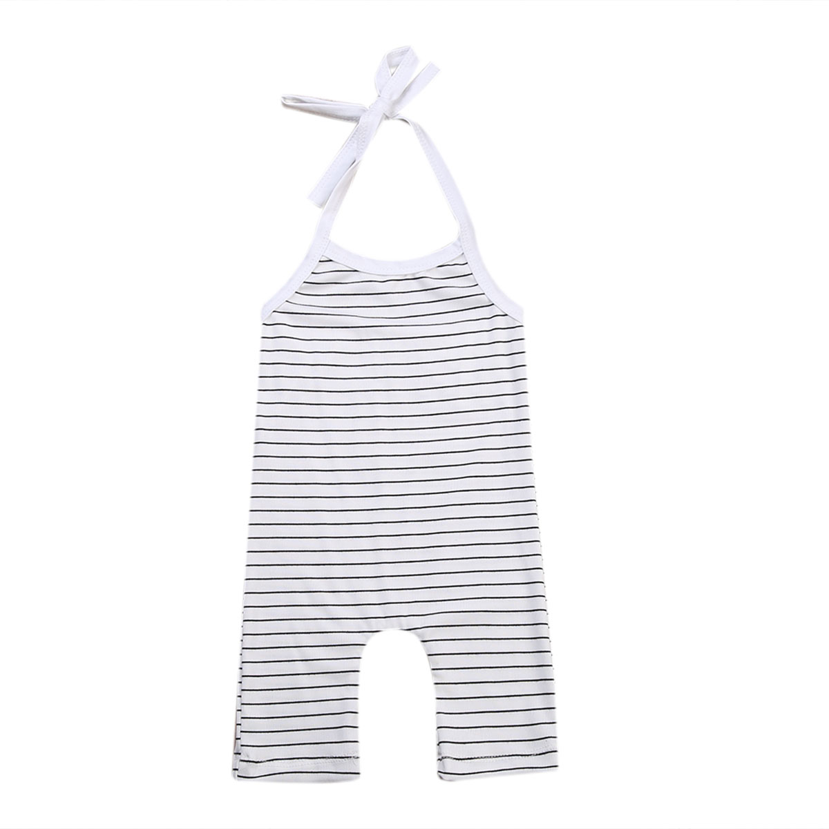 Newborn Baby Girls Boys Stripe Romper Jumpsuit Children Clothing Summer Boy Girl Costume Sleeveless Clothes Outfits Belt baby rompers one piece newborn toddler outfits baby boys clothes little girl jumpsuit kids costume baby clothing roupas infantil