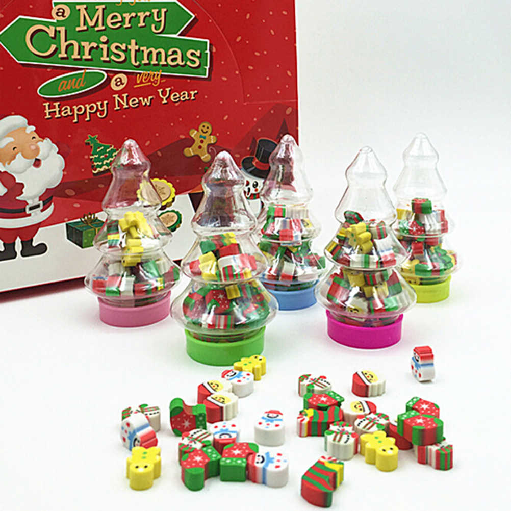 Weihnachten Geschenk Santa Baum Mini Radiergummi Kawaii Designer Studenten Schreibwaren Schule Liefert Papelaria Geschenk Für Kinder